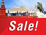 Twenty-four-hour sale of air tickets to Moscow and St. Petersburg!