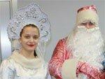Пассажиров авиакомпании ORENAIR поздравили Дед Мороз и Снегурочка!